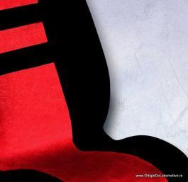 Auto presvlake komplet univerzalne EKO crveno-crne IS 11
