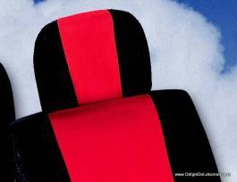 Auto presvlake komplet univerzalne crveno-crne IS3-1