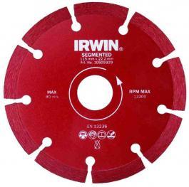 Dijamantska ploča za sečenje kamena i jačih tipova betona SEGMENTNA 115mm/22.22 IRWIN